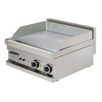 Fry top electric cu suprafata striata, 600x600x265mm