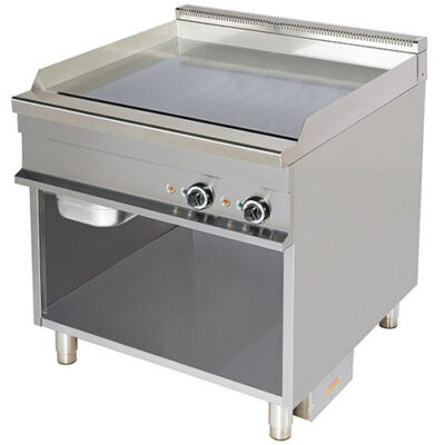 Fry top electric cu suprafata neteda cromata, 850x900x900mm