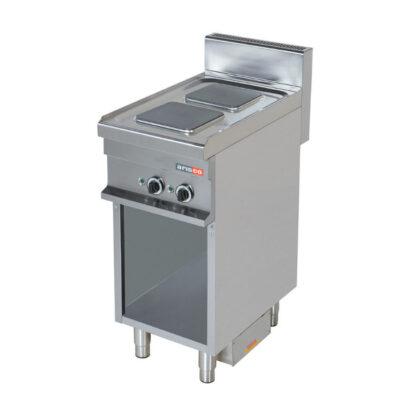 Masina de gatit electrica cu 2 plite patrate si suport deschis