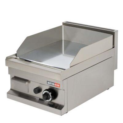 Fry top pe gaz cu suprafata neteda cromata 400x600mm
