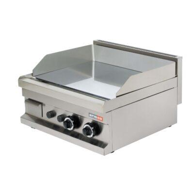 Fry top pe gaz cu suprafata neteda cromata 600x600mm