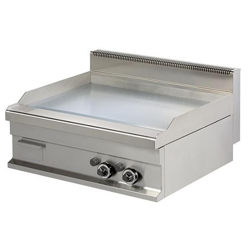 Fry top pe gaz cu suprafata neteda cromata, 800x700x290mm