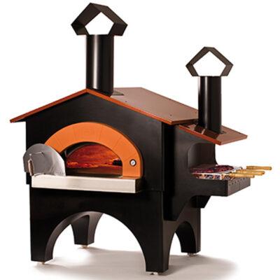 Cuptor pe lemne cu barbecue FIESTA, 7 pizze