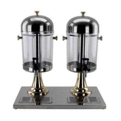 Dispenser dublu pentru bauturi reci, 2x8 litri