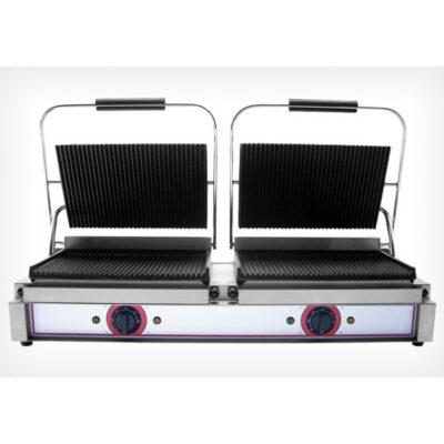 Toaster dublu cu mecanism prin apasare pe placi striate, 840x310mm