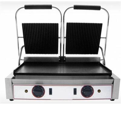 Toaster dublu cu mecanism prin apasare pe placi netede/striate