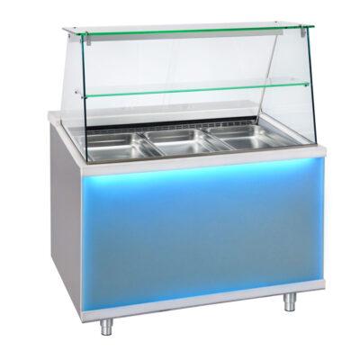 Vitrina frigorifica cu dulap pentru depozitare CORIAN, 1500x900mm