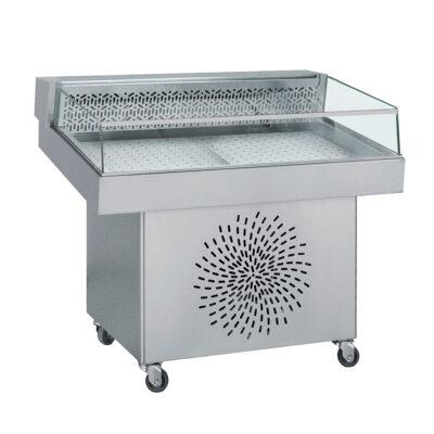 Vitrina frigorifica pentru peste, 1100x800mm