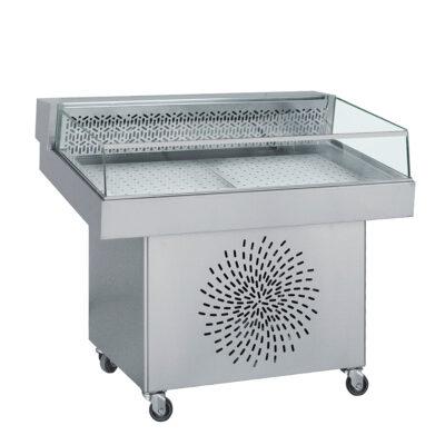 Vitrina frigorifica pentru peste, 1500x800mm