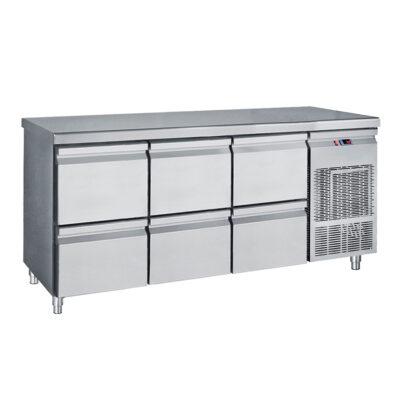 Masa frigorifica cu 6 sertare, 1850x700x850mm