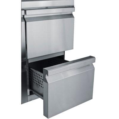 Sertare duble pentru masa frigorifica