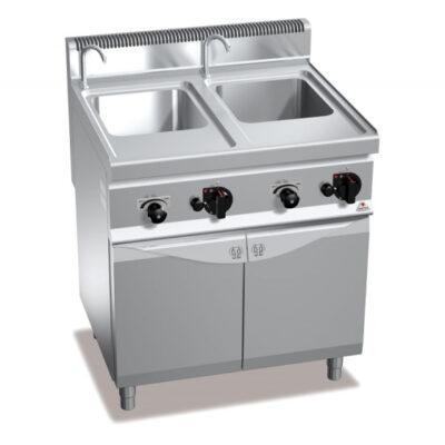 Masina de gatit paste pe gaz 30+30 litri cu dulap