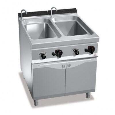 Masina de gatit paste pe gaz 40+40 litri cu dulap