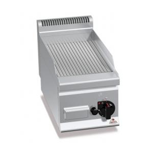 Fry top pe gaz cu suprafata striata 300x600mm