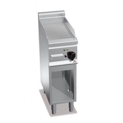 Fry top electric cu suprafata striata si cadru deschis, 300x600x900mm