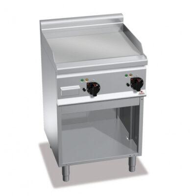 Fry top electric cu suprafata neteda si cadru deschis, 600x600x900mm