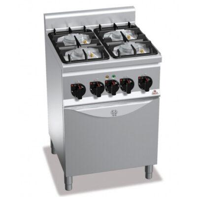 Masina de gatit pe gaz cu 4 arzatoare si cuptor electric ECO POWER