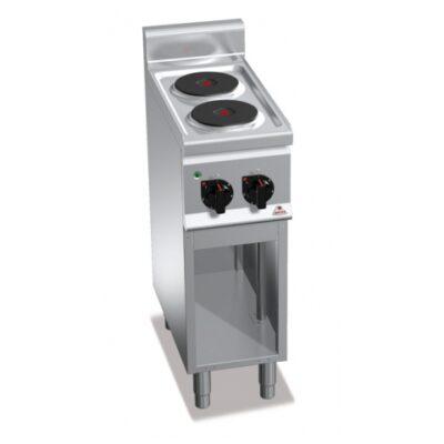 Masina de gatit electrica cu 2 plite rotunde si cadru deschis 300x600mm