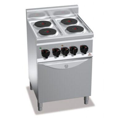 Masina de gatit electrica cu 4 plite rotunde si cuptor electric 600x600mm