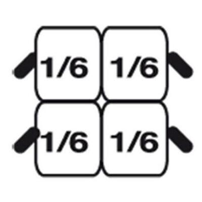 Set 4 cosuri GN1/6 pentru masina de gatit paste