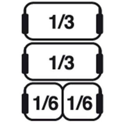 Set cosuri 2xGN1/3+2xGN1/6 pentru masina de gatit paste