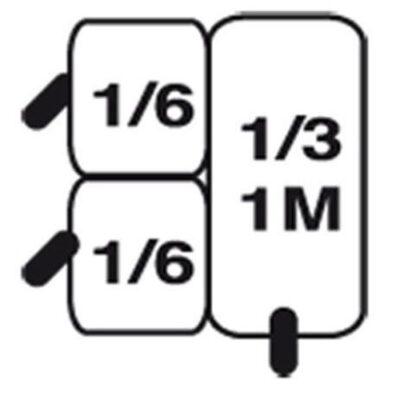 Set cosuri 1xGN1/3+2xGN1/6 pentru masina de gatit paste