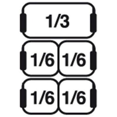 Set cosuri 1xGN1/3+4xGN1/6 pentru masina de gatit paste