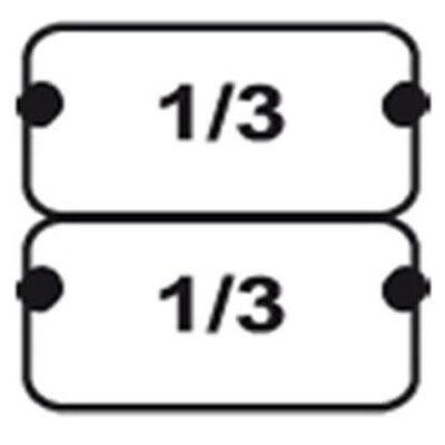 Set 2 cosuri GN1/3 pentru masina de gatit paste