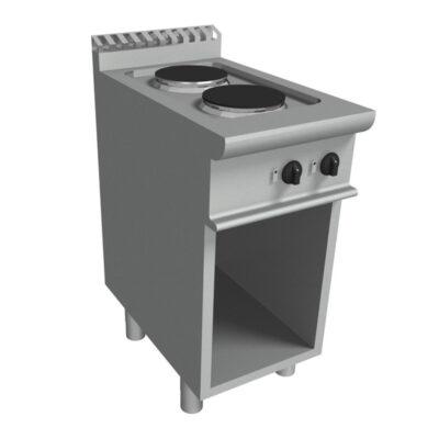 Masina de gatit electrica cu 2 plite si suport deschis, 400x700mm