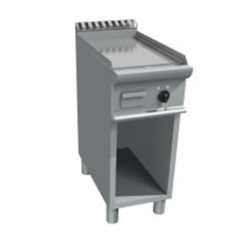 Fry top pe gaz cu suprafata neteda si dulap deschis, 400x700mm