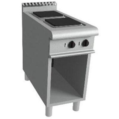 Masina de gatit electrica cu 2 plite si suport deschis, 400x900mm