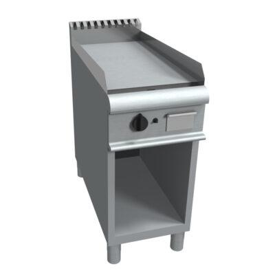 Fry top electric cu suprafata neteda si suport deschis, 400x900mm