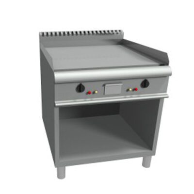 Fry top electric cu suprafata neteda si suport deschis, 800x900mm