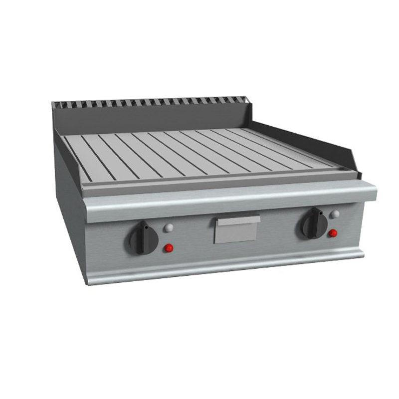 Fry top electric cu suprafata striata, 800x900mm