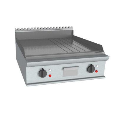 Fry top electric cu suprafata neteda/striata, 800x900mm