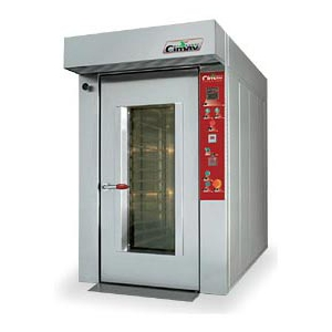 Cuptor rotativ termoventilat electric pentru patiserie si panificatie, 12 tavi