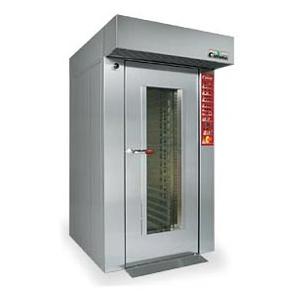 Cuptor rotativ termoventilat pe gaz pentru patiserie si panificatie, 15 tavi