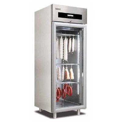 Dulap frigorific cu usa din sticla pentru maturare mezeluri, 100kg