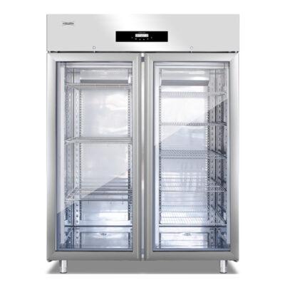Dulap frigorific cu 2 usi din sticla pentru maturare mezeluri, 200kg