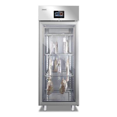 Dulap frigorific cu usa din sticla pentru maturare mezeluri, control touch screen, 100kg