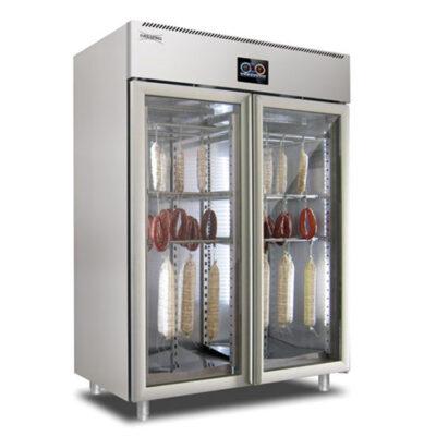 Dulap frigorific cu 2 usi din sticla pentru maturare mezeluri, control touch screen, 200kg