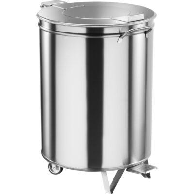 Cos de gunoi din inox cu pedala, 100 litri