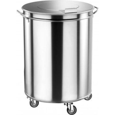 Cos de gunoi din inox, 100 litri