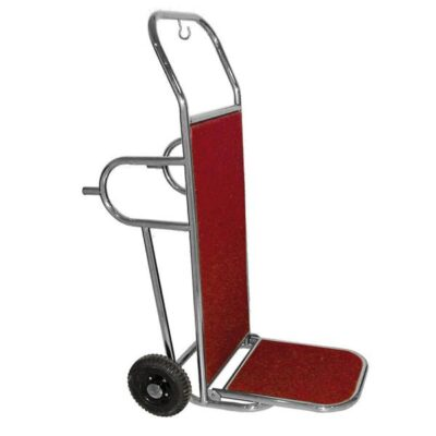 Carucior bagaje din inox cu 2 roti si suport, 560x830x1230mm