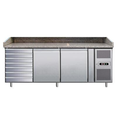 Masa frigorifica pentru pizza cu 2 usi, 2025x800x990mm