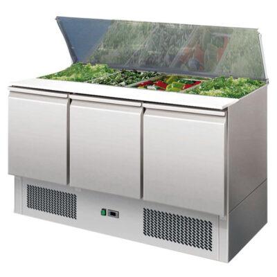 Saladeta cu 3 usi, 1365x700x875mm