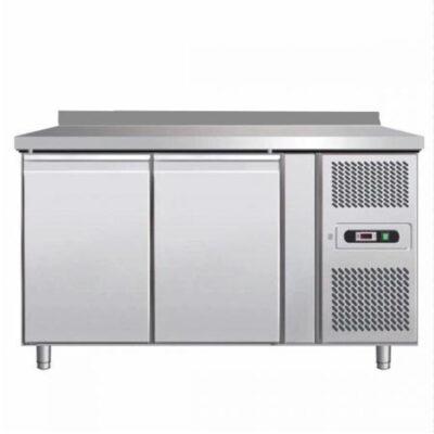 Masa frigorifica cu 2 usi si rebord, 1360x600x850mm