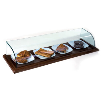 Vitrina neutra pe plan din lemn, 1100x400x220mm