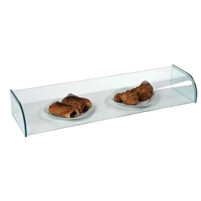 Vitrina neutra din sticla, 1220x260x150mm