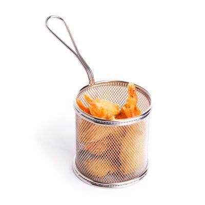 Cos din inox pentru servire, 90mm